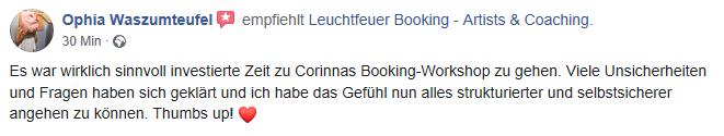 Empfehlung Leuchtfeuer Booking