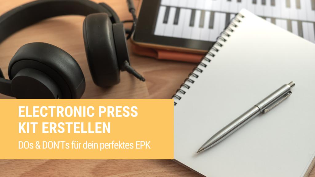 Electronic Press Kit erstellen